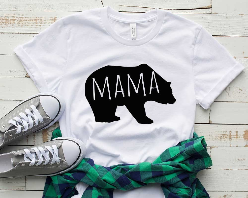 Mama Bear Tshirt Mum To Be Mum T Shirt Mum Tshirt T Shirts Etsy