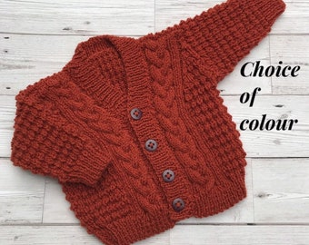 62c4144ea Hand knitted baby cardigan