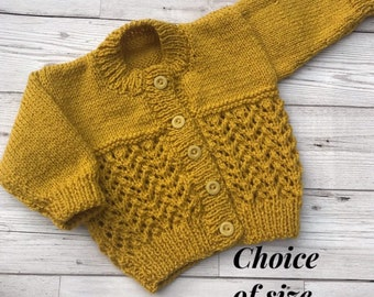 Baby & Toddler Clothing Brand New Hand Knitted Baby Cardigan 3-6 Months Orders Are Welcome.