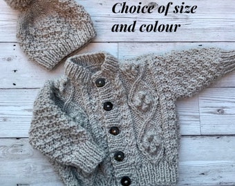 Knit baby cardigan | Etsy
