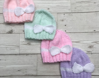 Preemie baby hats. Premature baby hats. Prem baby beanie. Choice of colour df4be81cc027