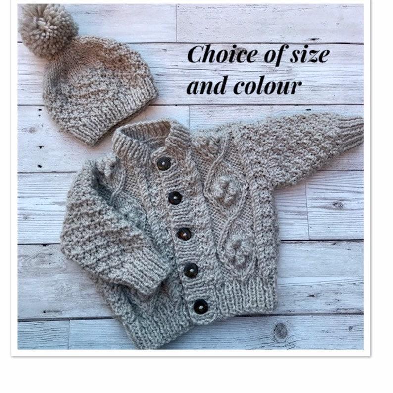 9dd4fabff Baby sweater. Baby Aran cardigan. Aran cardigan. Hand knitted