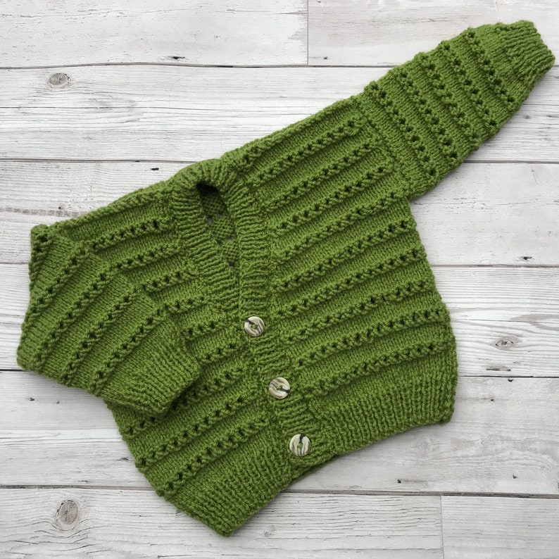 ee3b583bc Hand knitted baby cardigan 6 to 12 month baby sweater baby