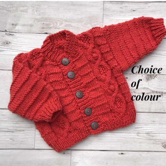 Baby cardigan, 0 3 months baby sweater, choice of colour baby cardigan