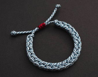 Custom Woven drawstring bracelet, sliding knot friendship bracelet, womens bracelet, Cute Bracelet, Stylish Gift for Friend, Minimalistic