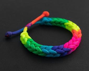 Pride Month Rainbow Bracelet, Adjustable Drawstring, PGUK, Multi Colour, Gay Pride, LGBTQ, Unisex, Cute Bracelet, Gift LGBT, Pride 2020