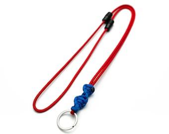 Custom Paracord ID Lanyard, Double Safety Breakaway Clasps, Cobra dna weave, Split Ring, ID Holder, Neck Lanyard, Badge Holder, PGUK