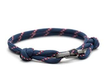 Nautical Rope Paracord Bracelet, Clip Wrap Bracelet, Dutch Marina Cord, Sailors Bracelet, Minimalist, Thin Bracelet, Ankle Bracelet, PGUK
