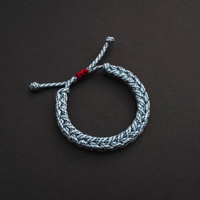 Custom Woven drawstring bracelet sliding knot friendship image 0