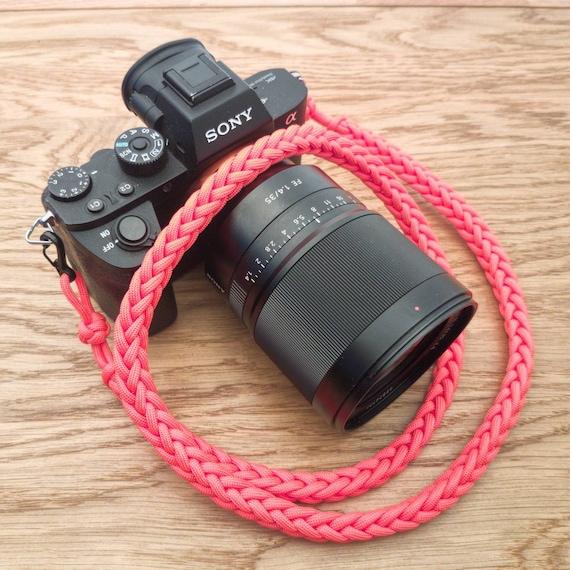 Camera Neck Strap  Paracord  Braided  Rope  Lanyard  Woven  Blue  DSLR  Photographer  Photography  EDC  Taiga Gear