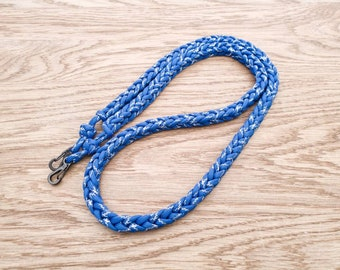 Handmade Paracord Camera Neck Strap, Blue & Silver Metallic Tracer Cord, Rope Camera Strap, Photography, DSLR, Compatible with all Cameras