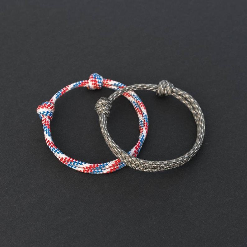 Paracord Sliding Knot Adjustable Bracelet  PGUK  100 image 0