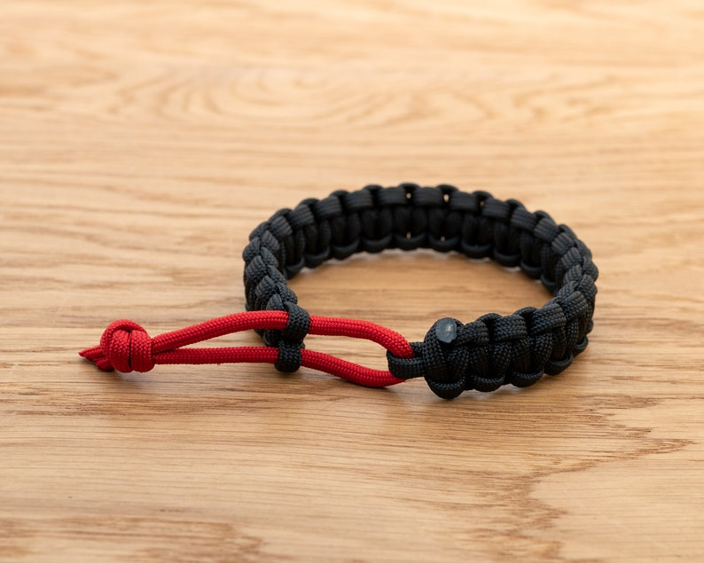 Mad Max Inspired Paracord Bracelet Cobra Weave Dual Colour image 0