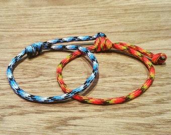 Paracord Sliding Knot Bracelet - PGUK - 57 Colours - EDC - Adjustabld - Mens Bracelet - Womens Bracelet - Surfers Brscelet - Unisex Bracelet