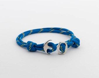 Nautical Anchor Wrap Bracelet, Paracord Bracelet, Minimalist Thin bracelet, Sailor Bracelet, mens bracelet, womens, Ankle Bracelet, PGUK