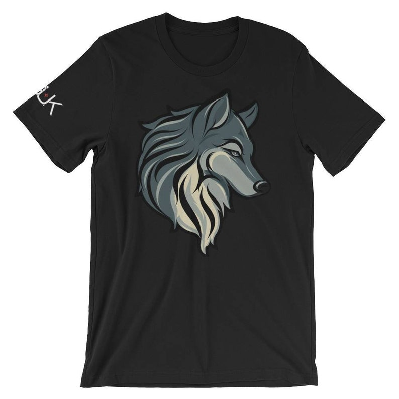 Wolf T Shirt Black Unisex Short Sleeve Jersey Tee S-4XL image 0