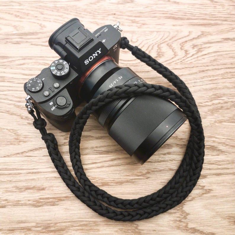 Paracord Camera Neck Strap  PGUK  Metal Clips  77 Colours  image 0