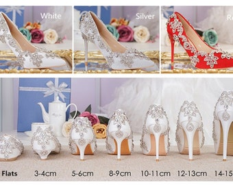 Stylish Women Bling Rhinestone Bridal Shoes Heels Crystals Pumps Party Shoes cbc2af68d26a