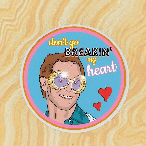 Elton John Watercolor Sticker