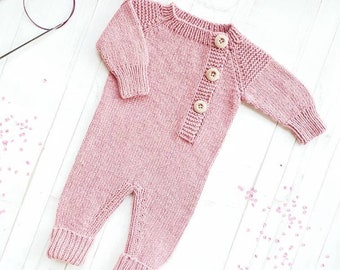 f4c4b57bd9a Baby romper-Baby overalls linen-Knit baby clothes-Knit overall-Newborn girl  outfit-Baby overall romper-Baby jumpsuit-Knit onesie