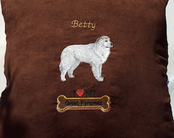 Great Pyrenees Pillow, Dog Pillow, Personalized Dog Pillow, Greay Pyrenees throw pillow with your pets name!