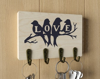 Key Holder Key Holder For Wall Key Rack Key Hanger Wall Key Etsy