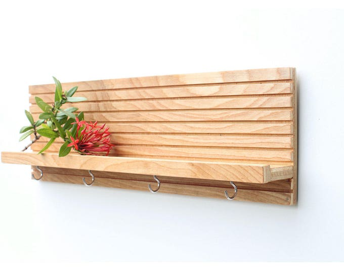"10"" Custom Key Holder With Shelf-Modern Shelf"