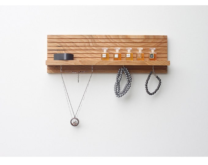 Wood Jewelry Rack