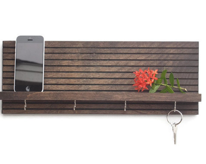 Modern Wood Key Holder
