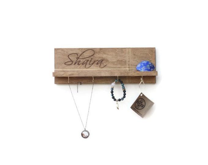 Personalized Jewelry Rack