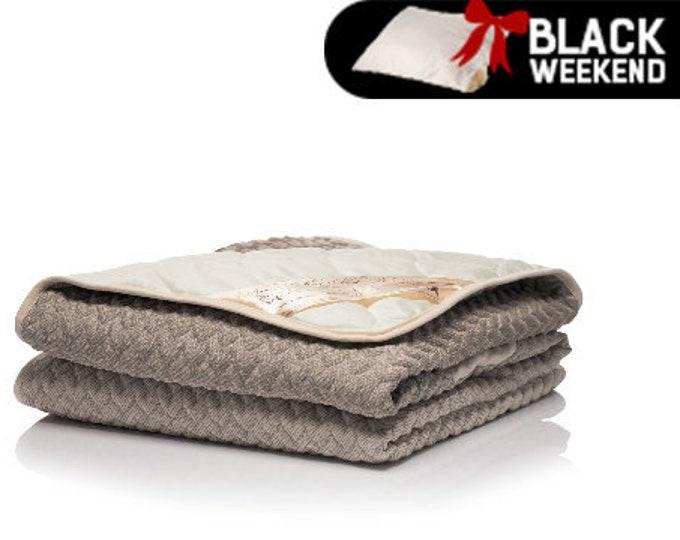 Hemp Blanket, Sateen Duvet Cover, Quilted Blanket, Merino Wool Filled Blanket, Hypoallergenic Blanket, King Size Bedspread, Wedding Gift