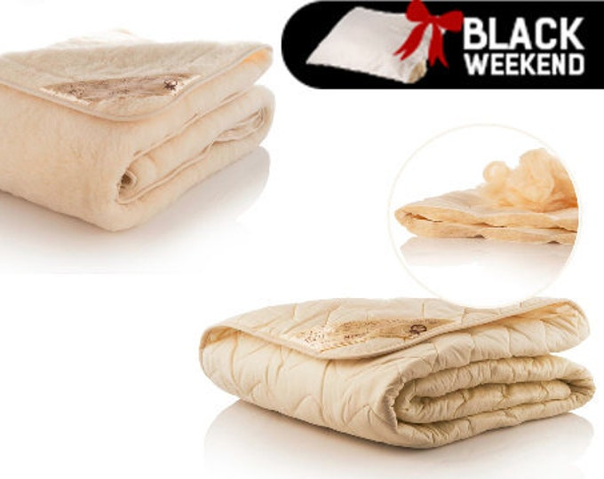 Set of Two Wool Blankets, All Season Blankets, Summer Blanket, Merino Wool Blanket, Soft Blanket, Winter Blanket, Wedding Gift, Eco Friendly