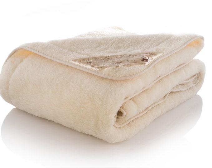 Merino Wool Blanket, Custom Size Blanket, Handmade Blanket, Organic Wool Blanket, Queen Bed Blanket, Hypoallergenic Cover, Baby Blanket
