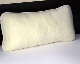 Organic merino wool pillowcase , 1 pair, 2 pieces, gift for home , 21 x 30 inches