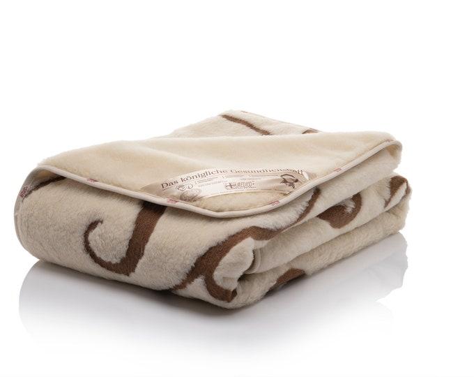 Featured listing image: Merino Wool Blanket, Wedding Gift, Wool Duvet Cover, Soft Blanket, Baby Blanket, Hypoallergenic Blanket, Throw Blanket, Pattern Blanket