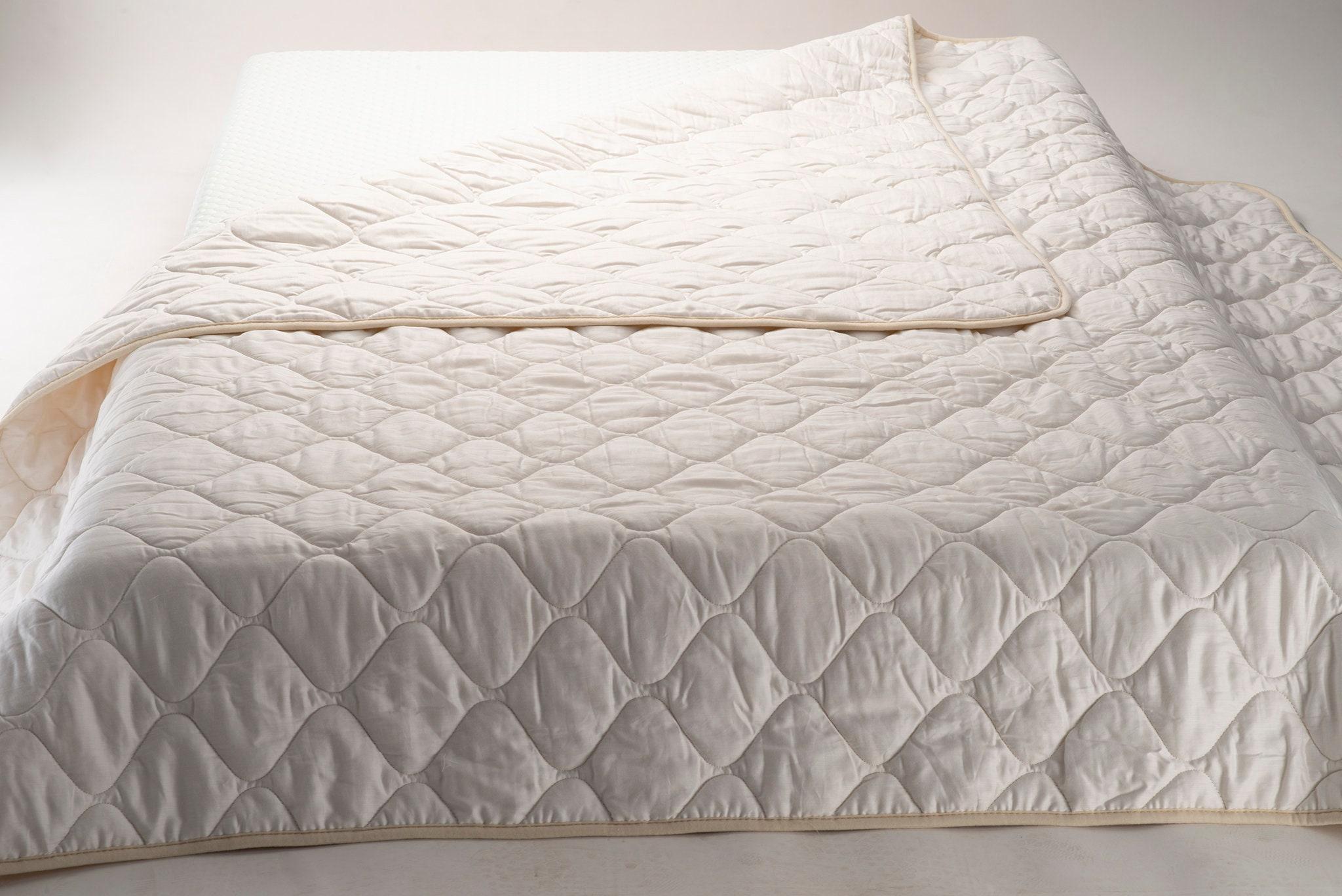 Housse de couette Queen, Couverture en laine Mérinos, Couverture en satin de coton, Couverture en laine blanche, Cadeau de literie