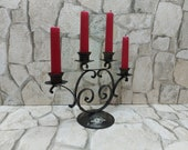 Iron candlestick table decor Black metal candlestick Black candelabra iron candlestick metal taper candle holder hand made iron candlestick