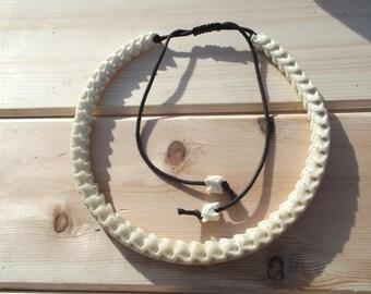 A lovely snake bone vertebrate necklace   curiosity ,unusual  jewellery