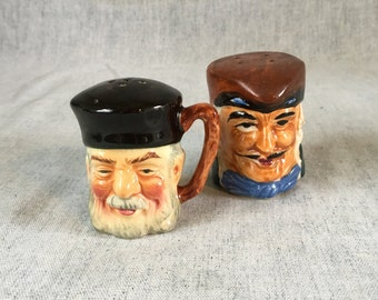 TOBY SALT PEPPER Pirates Heads Shakers Hal Seyfifyhave Vintage Japan  Toby Pirate Heads s /& p  Collectible Salt Pepper Shakers