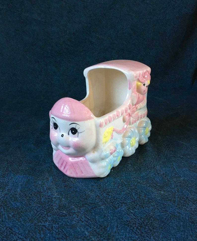 Baby Shower Gift Rubens Baby Train Planter 1950s Baby Nursery Decor