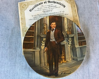 Vintage Gone with the Wind Collectors plate, Rhett Butler, Knowles Fine China