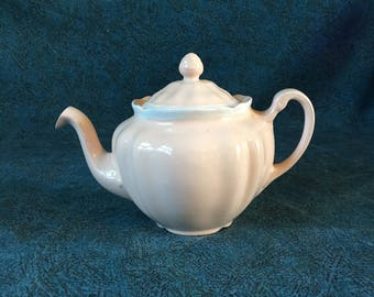Vintage Johnson Brothers Old Staffordshire Pink Mini Teapot with Lid