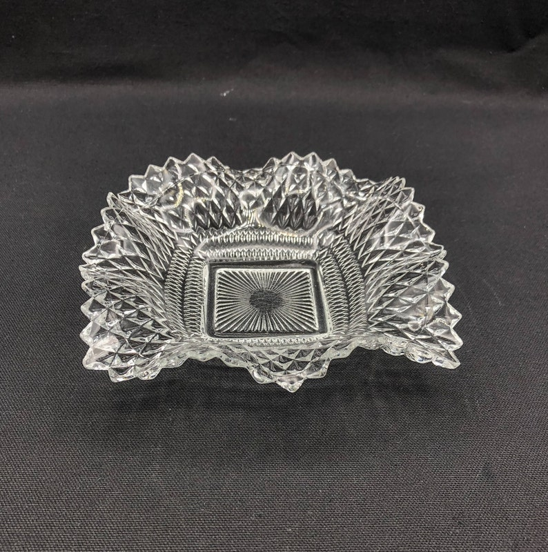 Vintage Indiana Diamond Point Mint or Candy Dish