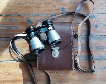 Vintage Deraisme Paris Binoculars with Leather Case