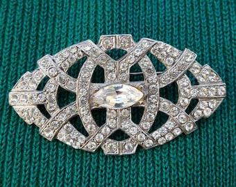 Vintage Art Deco Crystal Sparkle Brooch