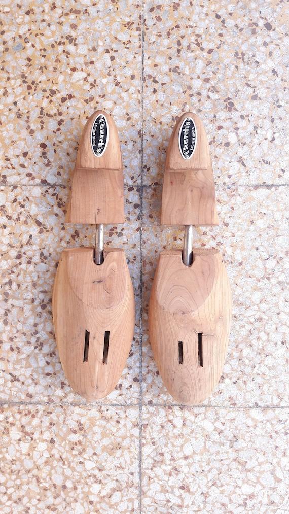 770310268ca47 Pair of Vintage Church's Wooden Shoe Lasts (Trees) British Classic Brogue  Footwear Unisex