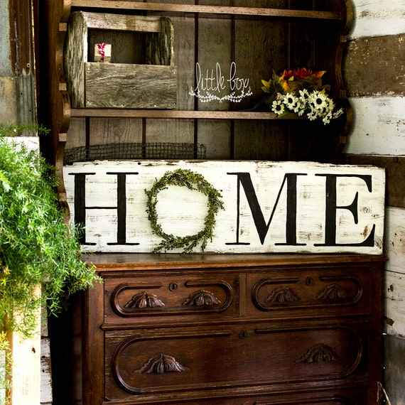 At Home Home Decor: Farmhouse Decor Rustic Home Decor Home Wreath Sign Home