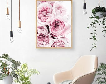 Delicate Pink Peonies Canvas Wall Art