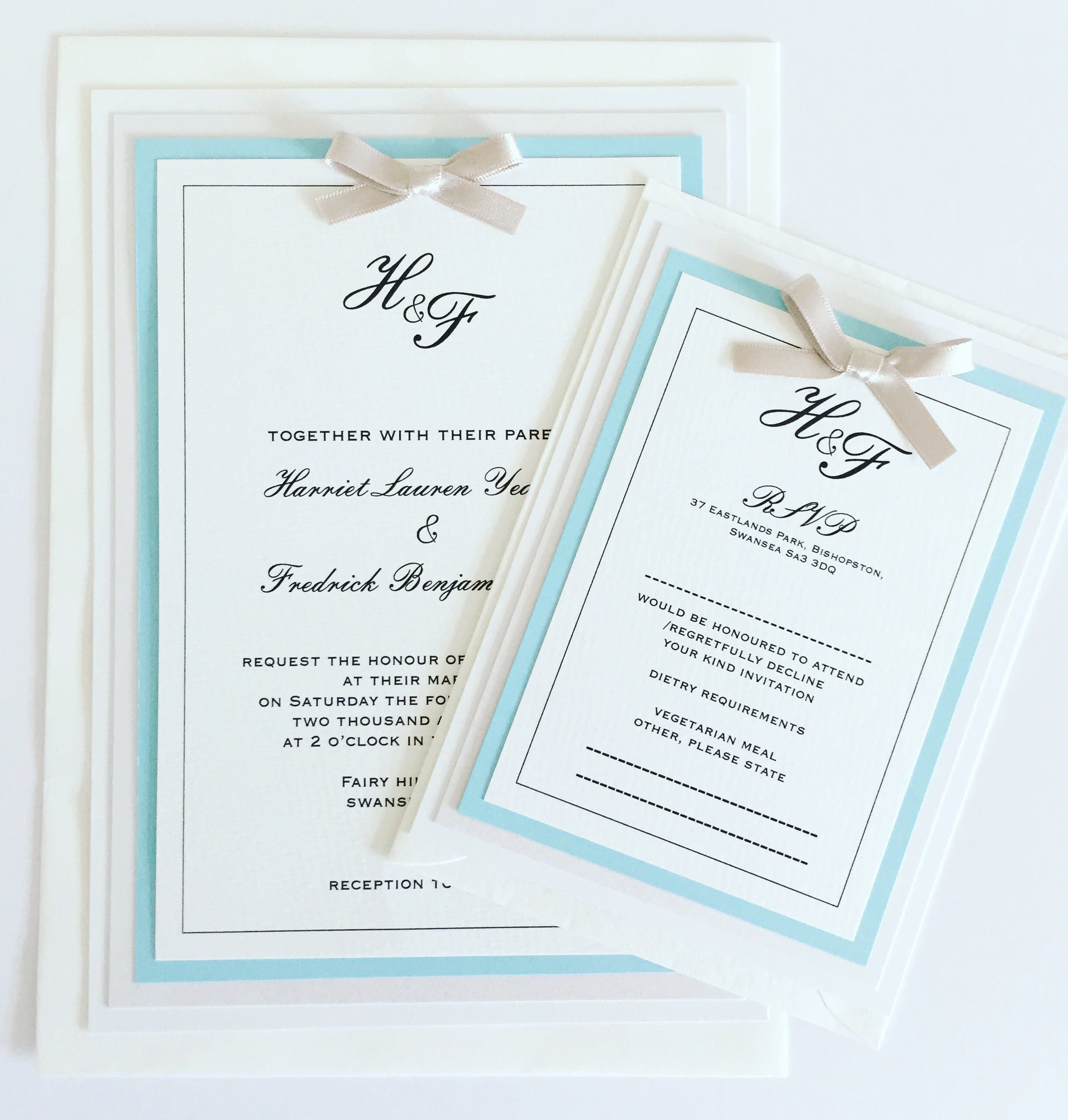 Vintage Regency Collection, Wedding Invitation (Day)
