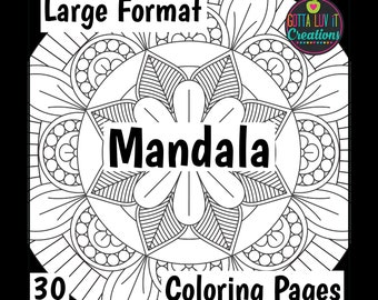 Mandala Coloring Pages 30 Designs